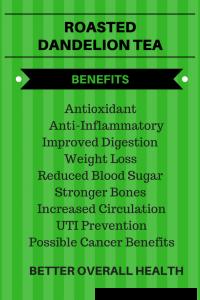 roasted dandelion tea benefits
